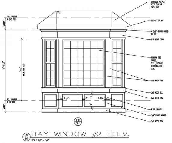 Title blocks building codes northern architecture for Window design elevation