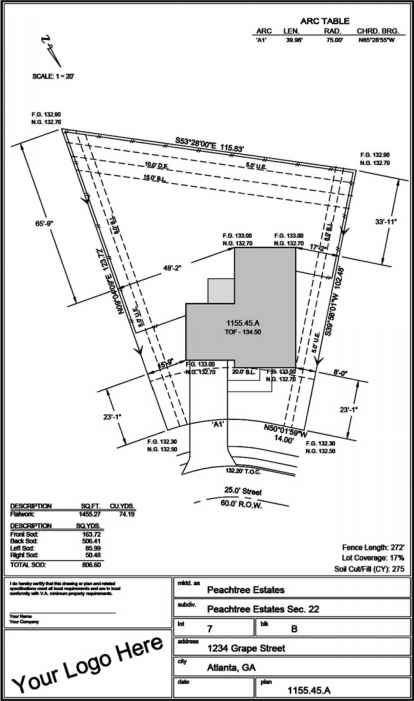 Site plan building codes northern architecture for Property site plan software