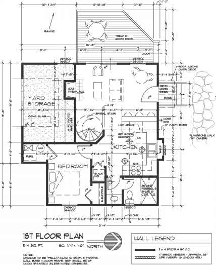 first floor plan - construction drawings