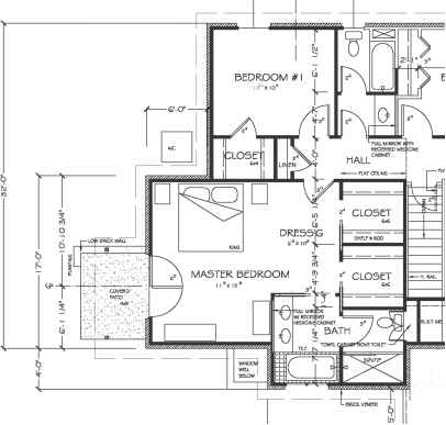 Dimensioning floor plans construction drawings for Draw kitchen floor plan