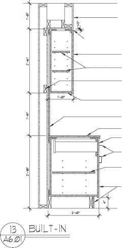 Adjustable Shelves Cad Detail Section