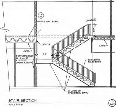 Architectural Drawing Scale stairs and ramps - construction drawings - northern architecture