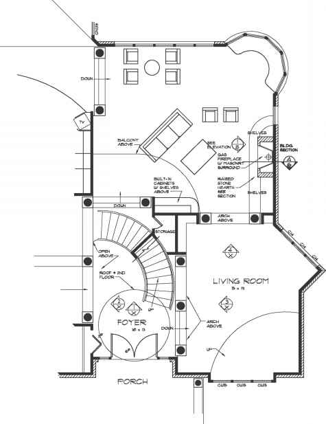 Masonry Fireplace Drawing Details : Millujork section construction drawings northern