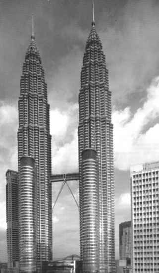 Petronas Twin Tower Black And White