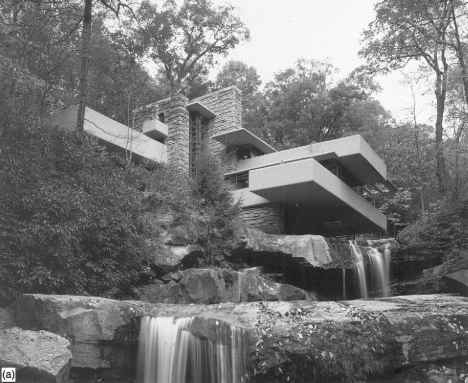 Figure 226 Falling Water Bear Run Pennsylvania USA Design By Frank Lloyd Wright 1935 1939 A And B The Building Achieves Placement Of Man In