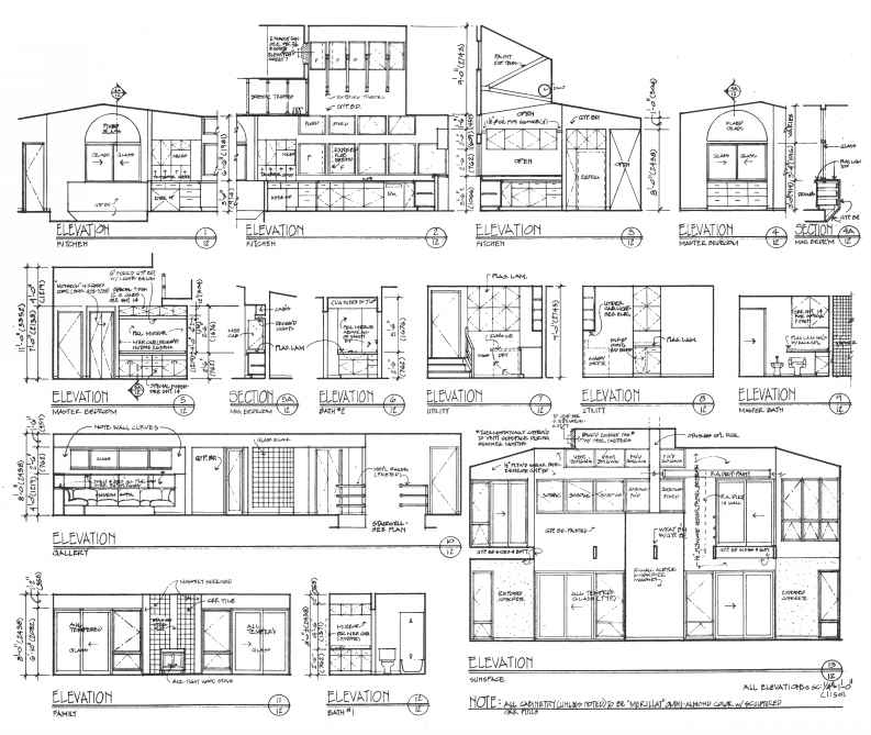 Side Elevations Architecture Sheets