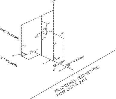 Floor Drain Isometric Drawing