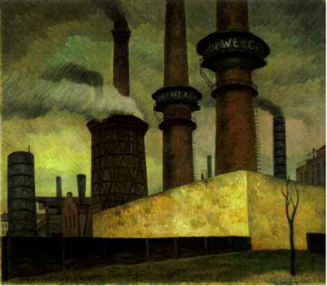 Industrial Desolation Painting